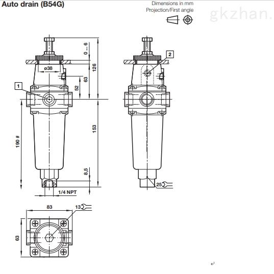 Norgren B52G,B54G系列过滤器