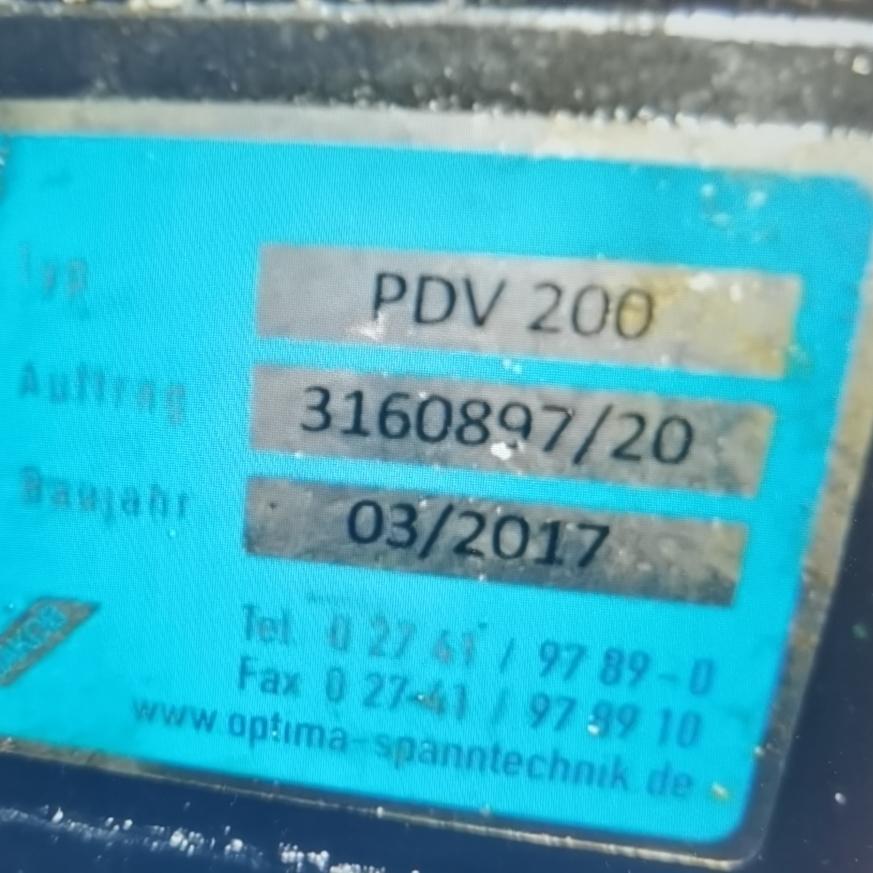德国进口optima夹具PDV200