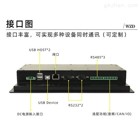 10.1寸安卓嵌入式工业平板电脑 工控一体机