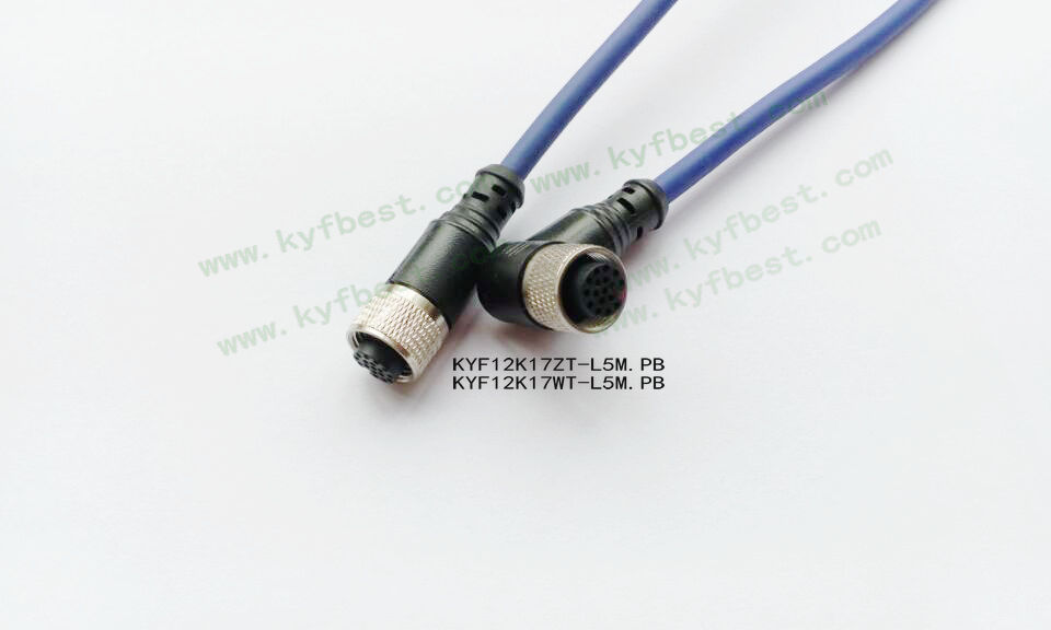 传感器电缆插头17针17孔