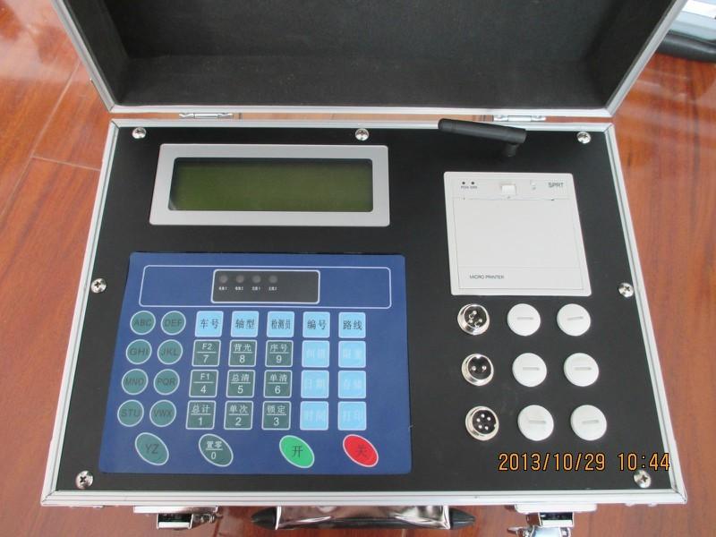 无线便携式轴重仪现场测试图