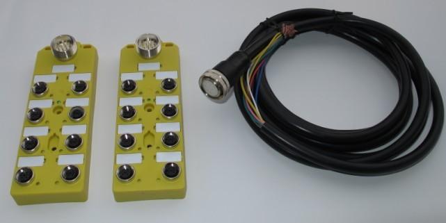 M12分配器主要分为:M12现场总线分线盒、T型分线器、Y型分线器。以下主要介绍T/Y型分线器先关技术参数。