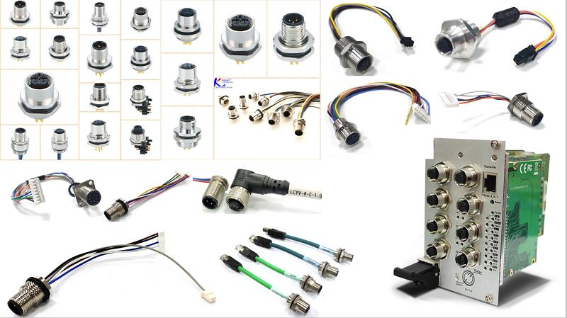 航空插座为当前工厂自动化领域的连接器,其主要为工厂自动化传感器与执行器所开发设计,广泛应用于传感器、机械手、电机马达、包装与传送系统、户外LED模块、安全光棚光幕、轨道交通、现场总线端口、船舶雷达与导航系统,机新能源信号控制等应用领域。科迎法可满足:防水、防油、耐寒、抗水解、耐商蚀、耐磨、耐插拔,以及EMC360度全屏蔽等性能要求。